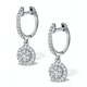 Halo Diamond Drop Earrings - Florence - 0.46ct - in 18K White Gold - image 2