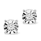 Diamond Stud Earrings 0.10ct H/Si in 18K White Gold - P3479 - image 1