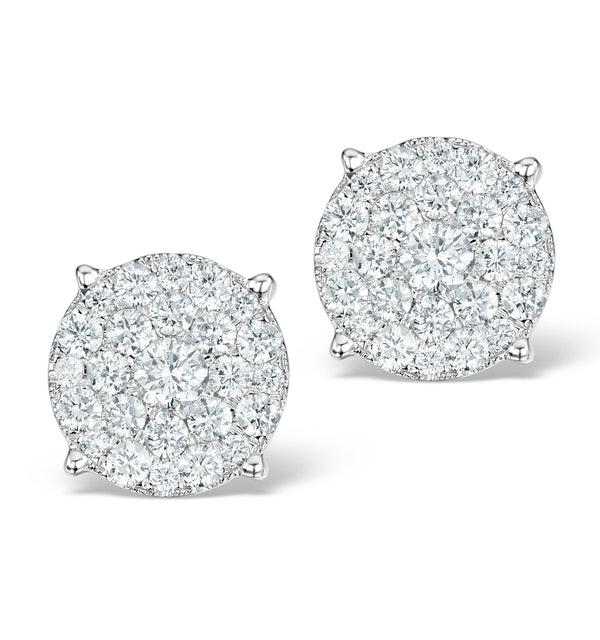 Grande Diamond Earrings 1.06ct H/Si in 18K Gold - P3470 - image 1