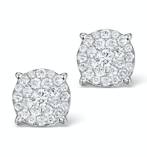 Diamond Earrings Moyen 0.85ct H/Si in 18K White Gold - P3471Y