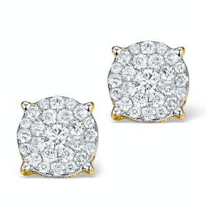 Diamond Earrings Moyen 0.85ct H/Si in 18K Gold - P3471
