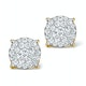 Diamond Earrings Moyen 0.85ct H/Si in 18K Gold - P3471 - image 1
