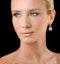 Diamond Halo Princess Cut Drop Earrings 1.75ct 18K White Gold - P3483W - image 3