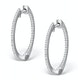 Diamond Hoop Earrings 0.54ct H/Si in 18K White Gold - P3486Y - image 1