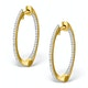 Diamond Hoop Earrings 0.54ct H/Si in 18K Gold - P3486 - image 1