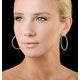 Diamond Hoop Earrings 2ct H/Si in 18K White Gold - P3487Y - image 3