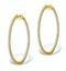Diamond Hoop Earrings 2ct H/Si in 18K Gold - P3487 - image 1