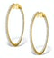 Diamond Hoop Earrings 1.50ct H/Si 18K Gold - P3488 - image 1
