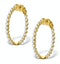 Diamond Hoop Emily Earrings 3.06ct H/Si in 18K Gold - P3489 - image 1