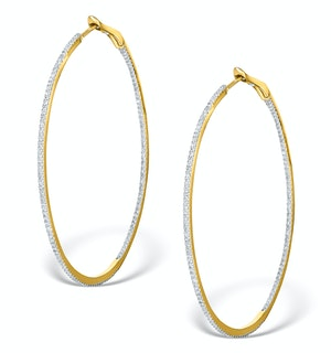 Diamond Hoop Earrings 1ct H/Si 18K Gold - P3480