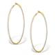 Diamond Hoop Earrings 1ct H/Si 18K Gold - P3480 - image 1