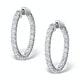 Diamond Hoop Earrings 4ct H/Si in 18K White Gold - P3481Y - image 1
