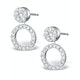 Athena Diamond Drop Earrings Multi Wear 1ct in 18K White Gold - P3492 - image 1