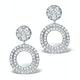 Athena Diamond Drop Earrings Multi Wear 1ct in 18K White Gold - P3493 - image 1