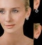 Athena Diamond Drop Earrings Multi Wear 1ct in 18K White Gold - P3493 - image 4