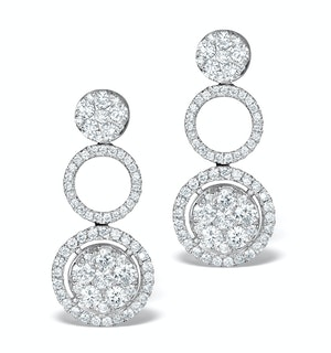 Athena Diamond Drop Earrings Multi Wear 1.24ct 18K White Gold - P3494