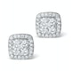 Athena Diamond Drop Earrings Multi Wear 0.96ct 18K White Gold - P3495 - image 2
