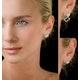 Athena Diamond Drop Earrings Multi Wear 1ct in 18K White Gold - P3496 - image 4