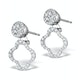Athena Diamond Drop Earrings Multi Wear 0.71ct 18K White Gold - P3497 - image 3