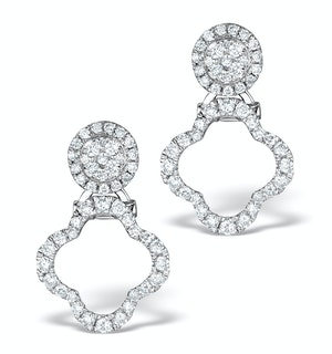 Athena Diamond Drop Earrings Multi Wear 0.71ct 18K White Gold - P3497