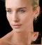 Athena Diamond Drop Earrings Multi Wear 0.71ct 18K White Gold - P3497 - image 4