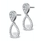 Athena Diamond Drop Earrings Multi Wear 0.90ct 18K White Gold - P3498 - image 3