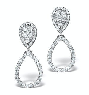 Athena Lab Diamond Drop Earrings Multi Wear 0.90ct 9K White Gold