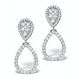 Athena Diamond Drop Earrings Multi Wear 0.90ct 18K White Gold - P3498 - image 1