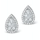 Athena Diamond Drop Earrings Multi Wear 0.90ct 18K White Gold - P3498 - image 2