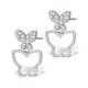 Athena Diamond Drop Butterfly Earrings Multi Wear 1.09ct 18KW Gold - image 3
