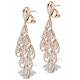 Diamond Halo Pyrus Chandelier Earrings 9.40ct in 18K Rose Gold P3490 - image 2