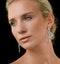 Diamond Pyrus Drop Chandelier Earrings 5ct in 18K White Gold P3402 - image 3