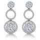 Athena Diamond Circle Multi Wear Earrings 1.3ct Set in 18K White Gold - image 1