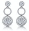 Athena Diamond Circle Multi Wear Earrings 1.3ct Set in 18K White Gold - image 4