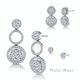 Athena Diamond Circle Multi Wear Earrings 1.3ct Set in 18K White Gold - image 3