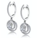 Diamond Swirl Drop Earrings 0.65ct Set in 18K White Gold - image 3