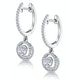Diamond Swirl Drop Earrings 1.15ct Set in 18K White Gold - image 3