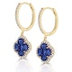 Sapphire 2.15ct And Diamond 18K Yellow Gold Alegria Earrings - image 2