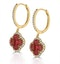Ruby 2.42ct And Diamond 18K Yellow Gold Alegria Earrings - image 2