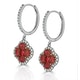 Ruby 2.42ct And Diamond 18K White Gold Alegria Earrings - image 2