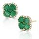 Emerald 2.41ct And Diamond 18K Yellow Gold Alegria Earrings - image 2