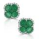 Emerald 2.41ct And Diamond 18K White Gold Alegria Earrings - image 1