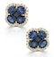 Sapphire 2.29ct And Diamond 18K Yellow Gold Alegria Earrings - image 1