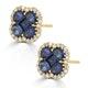 Sapphire 2.29ct And Diamond 18K Yellow Gold Alegria Earrings - image 2