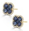 Sapphire 2.29ct And Diamond 18K Yellow Gold Alegria Earrings - image 2