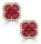 Ruby 2.39ct And Diamond 18K Yellow Gold Alegria Earrings - image 1