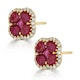 Ruby 2.39ct And Diamond 18K Yellow Gold Alegria Earrings - image 2