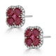 Ruby 2.39ct And Diamond 18K White Gold Alegria Earrings - image 2