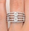 Two 0.50ct Look Galileo Set Diamond 0.80ct And 18K White Gold Ring - image 4