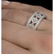 Wide Diamond Ring - Soleil - 1.27ct in 18K White Gold - N4527 - image 4